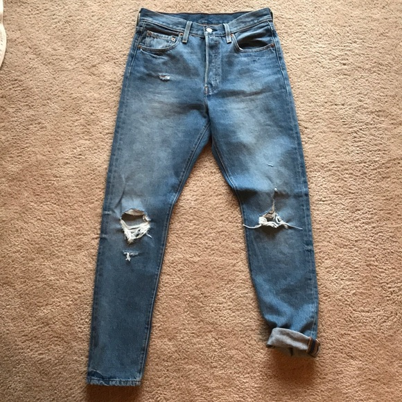 338bae15326d75 Levi's Jeans | Levis 501 Skinny In Old Hangout Size 28 | Poshmark